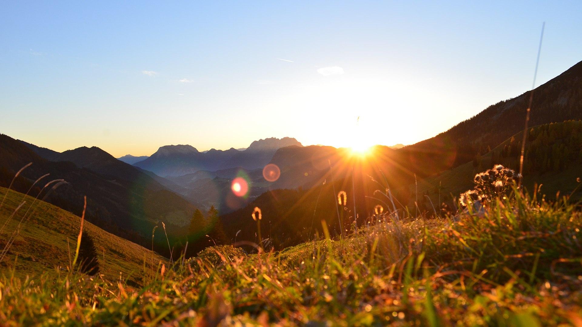 Sonnenaufgang Sudelfeld Bayrischzell, © Florian Liebenstein