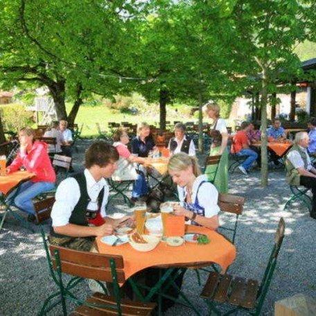 Biergarten, © im-web.de/ Tourist-Information Bayrischzell